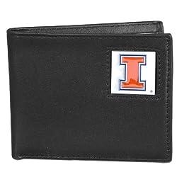 NCAA Illinois Illini Leather Bi-fold Wallet