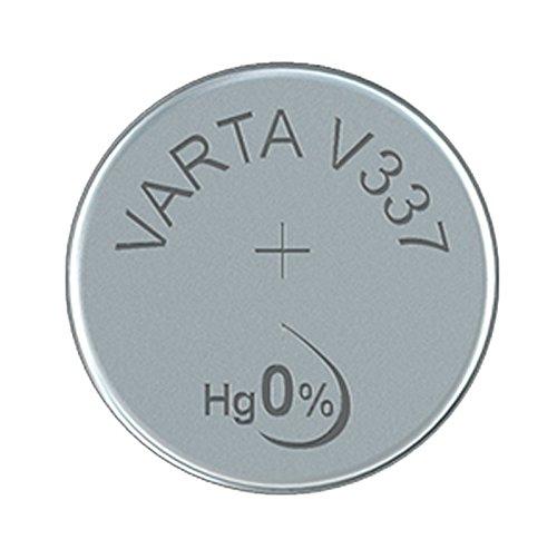 Varta 00337101111. Tecnología de batería: Óxido de plata, Forma de factor de batería: Botón/moneda, Voltaje de la pila: 1,55 V. Altura: 1,7 mm, Diámetro: 4,8 mm, Peso: 0,1 g Peso y dimensiones -Altura: 1,7 mm -Diámetro: 4,8 mm -Peso: 0,1 g  Caracterí...