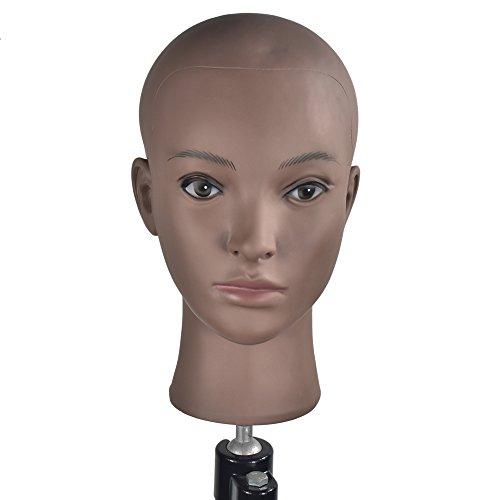 chauve femelle Cometology Tête de mannequin Tête d'entraînement Tête de poupée pour la création de perruque et affichage