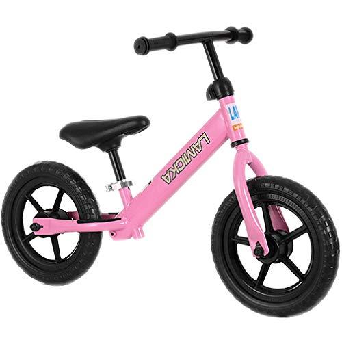 """12 """"Kinder Balance Bike, Taxi Bikeing, Keine Pedale, Kinder Slide Bike, Laufrad, Toy Bike, Kinder Kleinkind Bike, Intelligenz entwickeln, Übung Cerebellum Development (Pink)"""