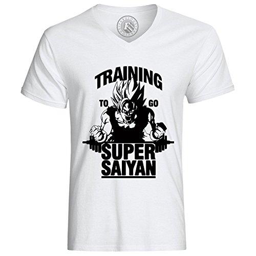 T-shirt trainin to go super sayan goku sangoku dragon ball z manga