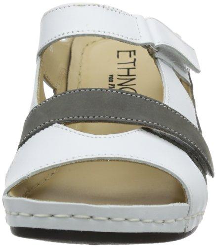 Florett 3561, Mules femme Blanc (706/Weiß/Grau)