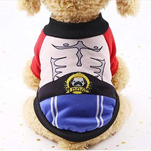 WESEEDOO Pet Dress Dog Kostüm Hundemantel Boxer Fleece Transformierte Kleid Warmen Anzug Für Kleine Mittelgroße Hunde (Boxer Dog Kostüm)