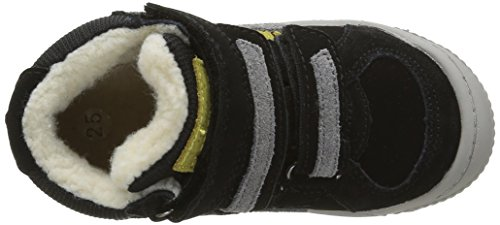 Kickers Jungen Zigouille Sneaker Noir (Noir/Jaune)