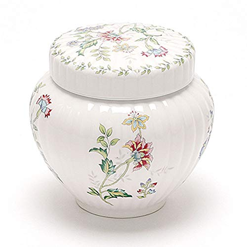 Teacera Traditioneller Keramiktopf Keksdose mit Deckel Übertopf Dekoration Ingwerglas Keramik