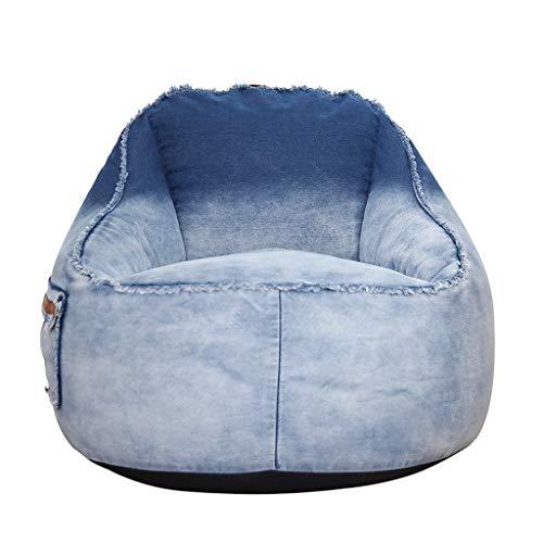 Canapés Pouf Poire Le Sofa Lavable Portatif De Bébé De Chaise De Câlin De Sacs De Haricot Badine des Meubles De Chambre À Coucher (Color : Blue, Size : 31.5 * 25.6in)