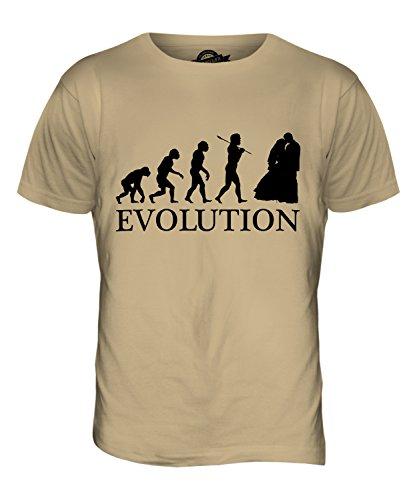 CandyMix Hochzeitsfeier Hochzeit Evolution Des Menschen Herren T Shirt Sand