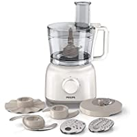 Philips HR7627/01 Daily Collection Food Processor, 1.5 Litre, 650 Watt - White