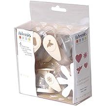 Artemio - Kit de 4 perforadoras de papel, diseño de boda, multicolor
