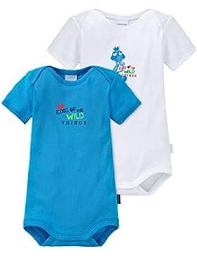 Schiesser Baby - Jungen Body 2pack Baby Bodies 1/2