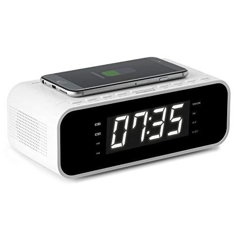 Thomson CR221I Radio Portable Horloge Numérique Blanc - Radios Portables (Horloge, Numérique, FM, Blanc, Uniforme, Secteur)