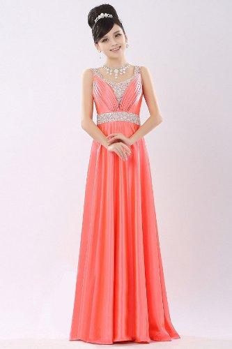 PLAER femmes Modèles Sac à dos robe de toast de mariage Cocktail robe de soirée sexy rouge pastèque