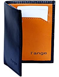 L'ange Black And Orange Color Pure Genuine Leather Wallet For Men / Hand Crafted / Genuine Leather / High Quality...