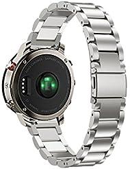 Para Garmin Fenix Chronos, DoraMe Correas Relojes magnética milanesa de acero inoxidable (Plata3)