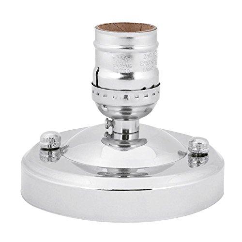 Fdit E27 Sockel Adapter E26 / E27 Vintage Industrie Decke/Wandleuchte Basis Fassung Deckenfassung Halter Pendelleuchte Lampe Schraube Buchse Lampenfassung Adapter DIY Lampenzubehör(Silber) -