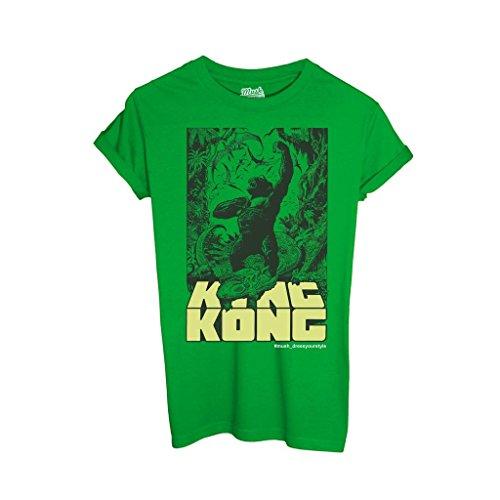 T-Shirt KING KONG - FILM by iMage Dress Your Style - Bambino-L-VERDE PRATO