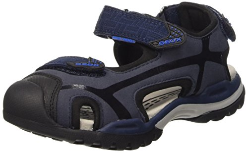 Geox J Borealis Boy C, Sandales garçon multicolore (Multicolor (Navy / Black))