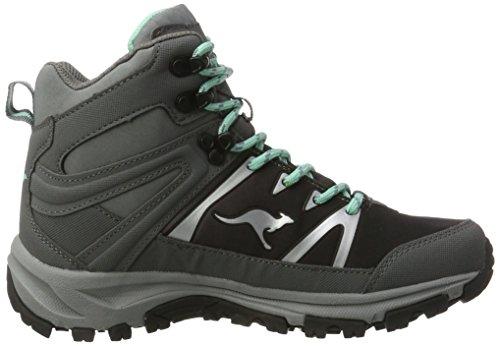 KangaROOS Damen Nangat Trekking-& Wanderstiefel Grau (Dk grey/smaragd)