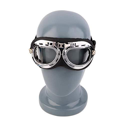 XYQY Brille Anti-Uv Vintage Motorradbrille Pilot Biker Helm Sonnenbrille Roller Cruiser Brille Offroad Motocross Racing BrillenDurchsichtig