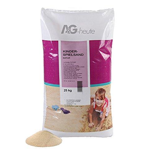25kg Spielsand Quarzsand für Sandkasten Dekosand TÜV NORD geprüft TOP Qualität (Sandkasten Sand)