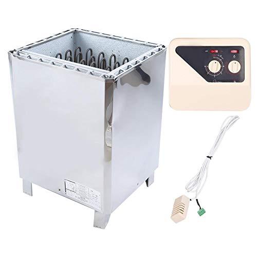 Lecxin Saunaofen, Dreiphasendampferzeuger Externe Steuerung Edelstahl Saunaofen Heizung Sauna Ausstattung 380V(12KW)
