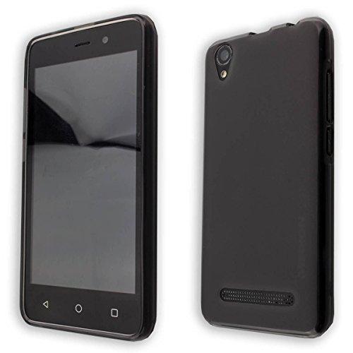 caseroxx TPU-Hülle für Medion Life E4504 MD 99537, Tasche (TPU-Hülle in schwarz-transparent)