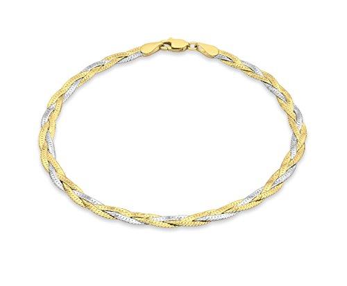 Carissima Gold - Bracciale da Donna in Oro Bicolore 9K (375), 19 cm