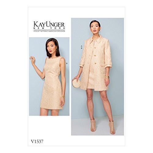 vogue-patterns-patrons-de-veste-et-robe-multicolore-tailles-14-22