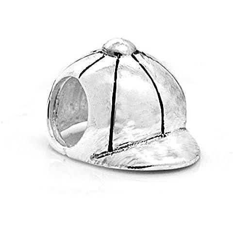 Tappo con perle, in argento Sterling (Baseball Gioielleria)