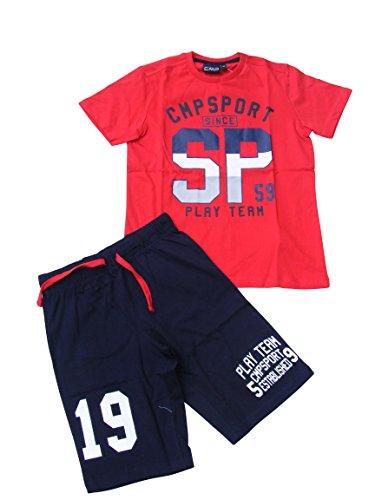 CMP Jungen Set T-Shirt+Shorts 38D8414-C580 Ferrari, 152 Jungen Shorts Set