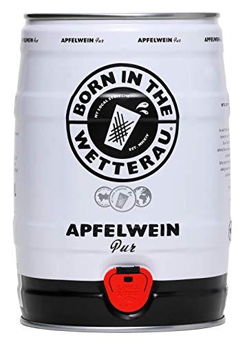 Born in the Wetterau Apfelwein Faß Pur 5l - Äppler im Fass 5 Liter - PFANDFREI - Äppelwoi auf Hessisch