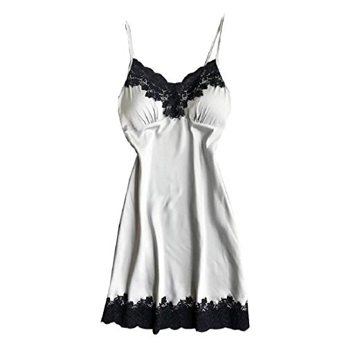 VECDY Frauen Unterwäsche Damen Satin Nachtwäsche Damen Damen Nachtwäsche Nachthemd Sexy Dessous mit Brustpolstern ()