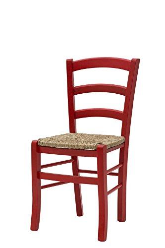 Mobili per Tutti Meubles pour Tous 310 GP Lot de 2 chaises, Bois, Rouge, 43 x 42 x 88 cm