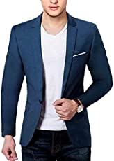 BREGEO Men's Fashion Slim Fit Blazer