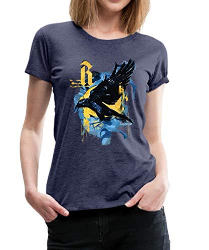 Spreadshirt Harry Potter Haus Ravenclaw Rabe Frauen Premium T-Shirt, M (38), Navy meliert (Hexerei Filme Top)