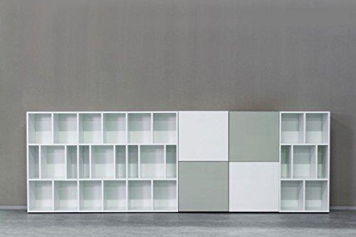 KITOON Grundmodul Nr. 3 (B 57 H 57 T 35 oder 48 cm) – Tür rechts, Tiefe 35 cm, Nuß geölt (Echtholzfurnier) - 5