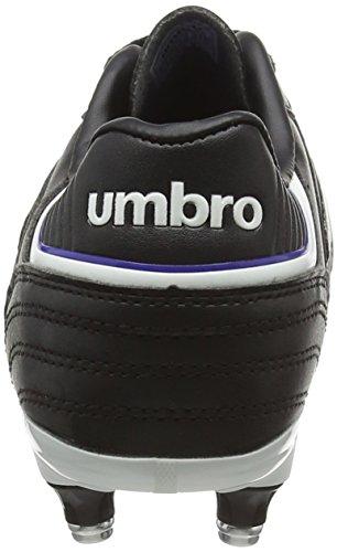 Umbro Speciali Eternal Club Sg-Jnr, Scarpe da Calcio Bambino Nero (Dju-Black/White/Clematis Blue)