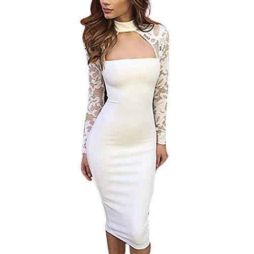 Sexy Bestes Geschenk für Frauen !!! Beisoug Fashion Damen Engen, figurbetontes Kleid Damen Club Party Spitze Ärmel Aushöhlen Kleid ()