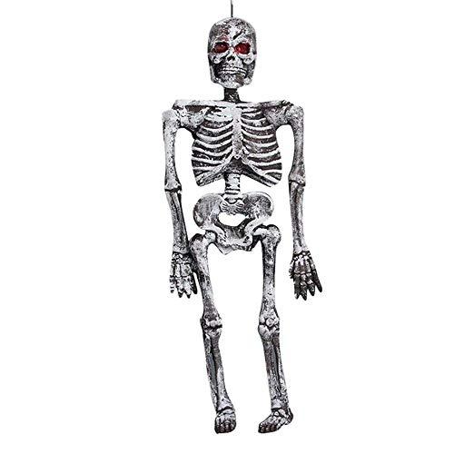 WYMI Halloween Leucht Skeleton Nachtlicht Simulation Trockene Leiche Horror Körper Dekoration Spukhaus Wohnzimmer Schlafzimmer Studie Eingang Villa Leuchte A +++