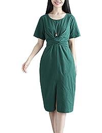 Simgahuva Mini Vestido De Manga Corta para Mujer Ropa Vendaje Vestidos De Sol con Cinturón