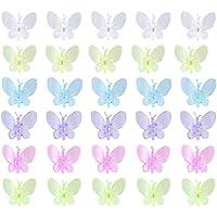 Yardwe 30 Piezas de Clips de orquídeas libélulas Planta Flor Clips de Vid Clips de estaca de jardinería para Soporte de Plantas 3.5x3.8cm (Color Mezclado)