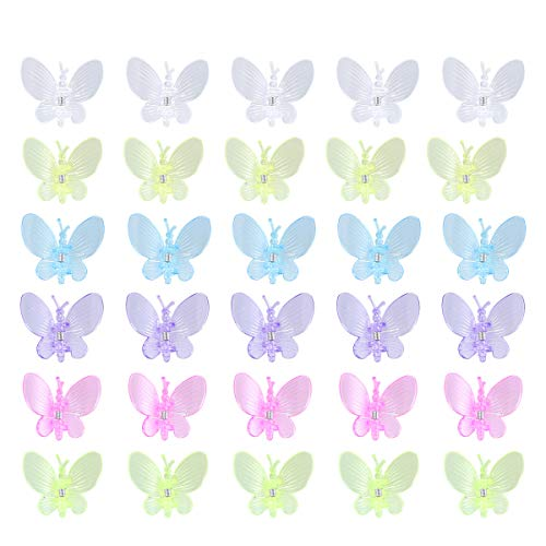 Yardwe 30 stücke Schmetterling Orchidee Clips Garten Blume Pflanze Unterstützung Clips Stamm Vine Clips -