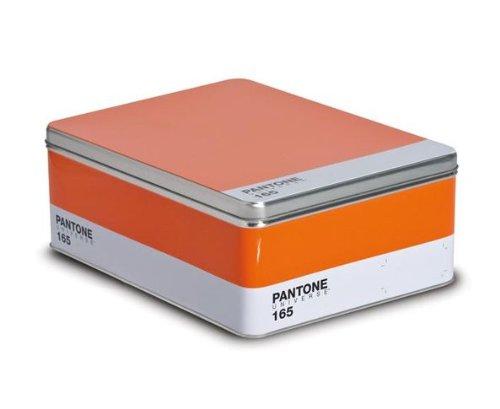 Seletti, Pantone 165, -Scatola In Metallo, Arancione, 30X22X11 Cm
