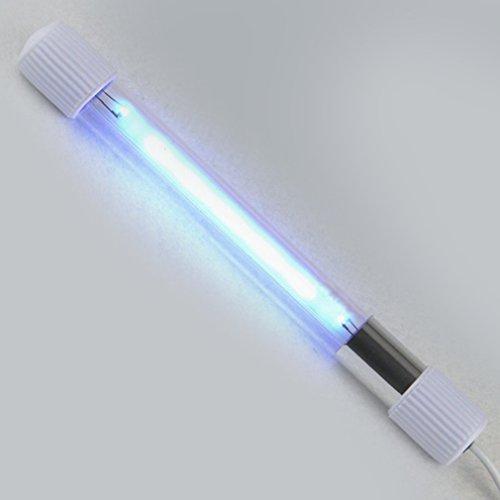 Aquarium UV Sterilisator Lampe Tauch UVC Keimtötende Lampe Desinfektion Behandlung UV Wasserreiniger Bakterien töten (Farbe: weiß) - Uvc Keimtötende Lampe