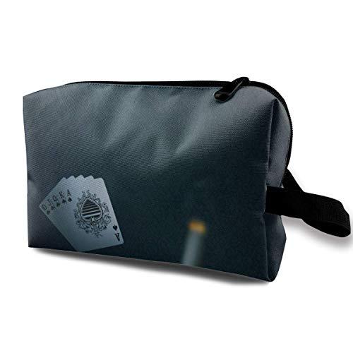 n-Karten-Lohn-Reise-tragbarer Make-upbeutel-Reißverschluss-Geldbörsen-Aufhängetasche ()