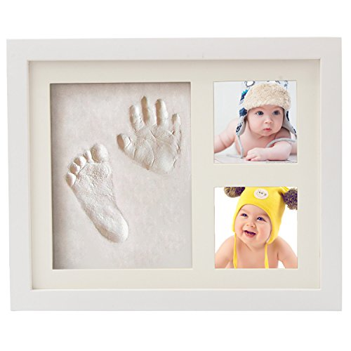 Discoball Baby Handprint and Footprint Picture Frame Clay Kit, 3 pcs Premium Ready Made Clay Bags for Newborn Girls and Boys Hand and Foot Prints Casting Keepsake Baby Gift