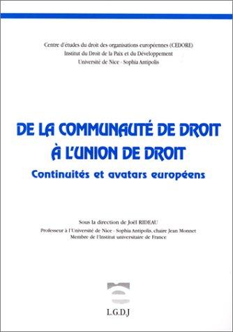 De la communauté de droit à l'union de droit