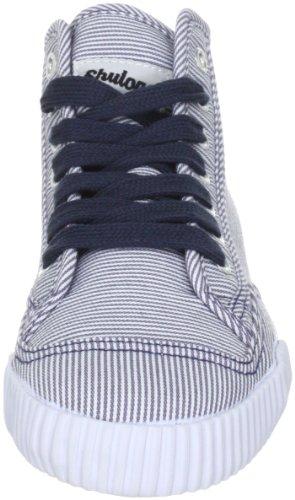 Shulong Shuclassic Plus, Baskets mode mixte adulte Blanc rayé (Navy)