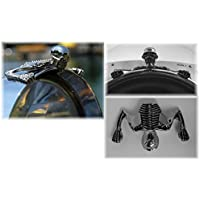 Adorno de calavera para faro de moto Highway Hawk modelo peque/ño