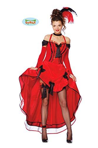 Guirca- Costume Donna Ballerina Can, Colore Rosso, M 38-40, 80374